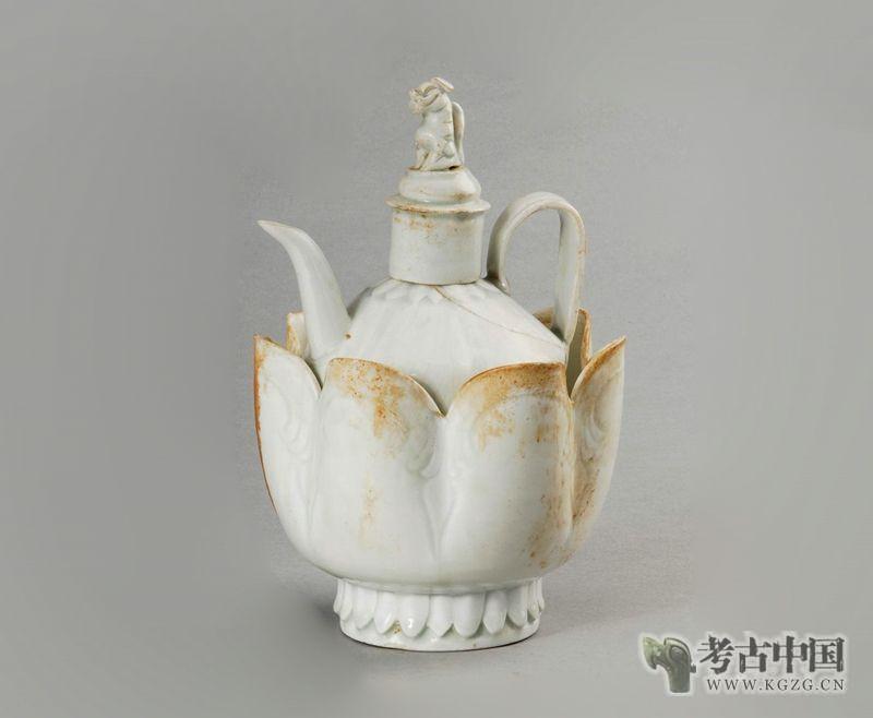 北宋 · 景德镇窑影青釉莲瓣纹注子注碗(安徽博物院)