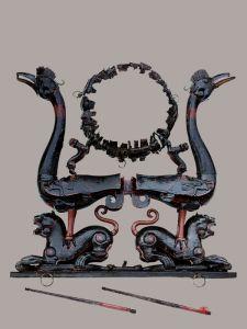 战国 · 虎座鸟架鼓(湖北省博物馆)