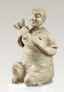 唐代 · 白瓷人形尊(陕西历史博物馆)