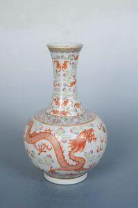 清代 · 粉彩龙凤赏瓶(黑龙江省博物馆)