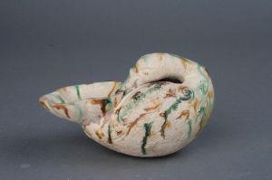 唐代 · 邢窑三彩鸭形杯(河北博物院)