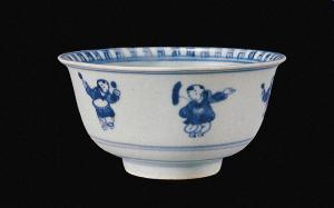明代 · 青花婴戏纹碗(常州博物馆)