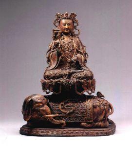 西夏 · 鎏金普贤菩萨铜造像(宁夏博物馆)