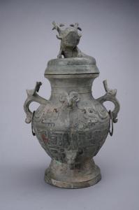 西周 · 羊首兽面纹铜罍(四川博物院)