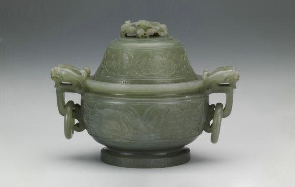清代 · 兽面纹兽耳活环炉(山西博物院)