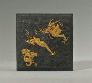 清代 · 双龙玉玺墨(安徽博物院)