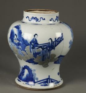 清代 · 青花釉里红人物图罐(深圳博物馆)