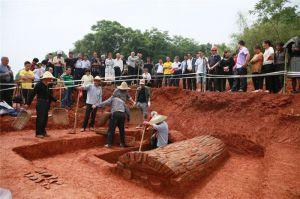 """湖南宁乡发掘出设有""""过仙桥""""的北宋夫妻合葬墓"""