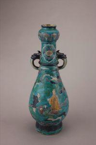 明代 · 珐花双耳瓷瓶(四川博物院)