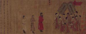 唐代 · 阎立本步辇图卷(故宫博物院)