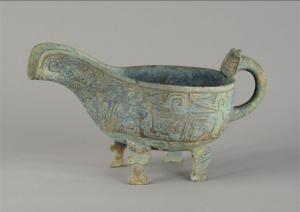 西周 · 窃曲纹兽足匜(安徽博物院)