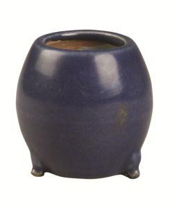芙蕖:明代蓝釉小瓶与鼓形炉