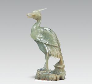 清代  ·  青玉鹭鸶(陕西历史博物馆)