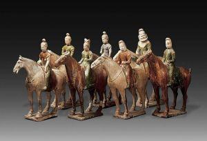 唐代 · 三彩骑俑队列(甘肃省博物馆)