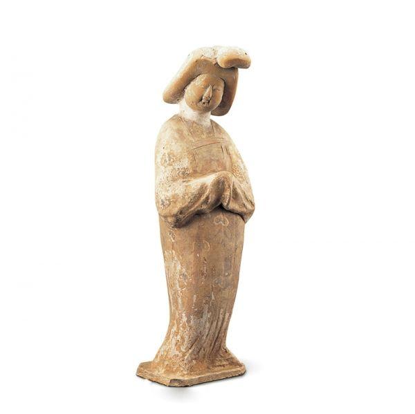 唐代 · 彩绘拱手女立俑(陕西历史博物馆)