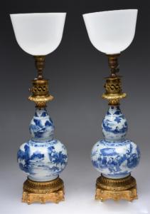 明代 · 崇祯青花花卉纹瓷灯(长沙博物馆)