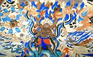黄松:镇邪崇正,古代绘画中的雷神——力士之容,左手连鼓,右手推椎