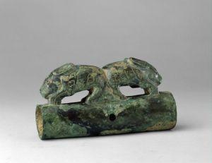 西周 · 双兔车軎(故宫博物院)