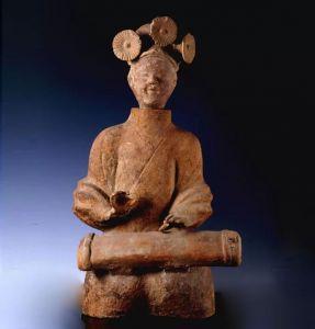 东汉 · 抚琴陶俑(上海博物馆)