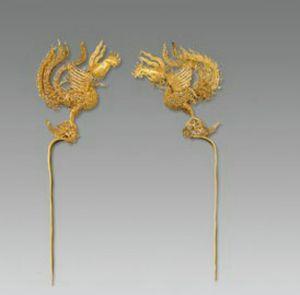 明代 · 金凤簪(湖北省博物馆)
