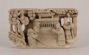 清代 · 送米图人物砖雕(安徽博物院)