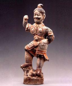 唐代 · 彩绘武士俑(宁夏博物馆)