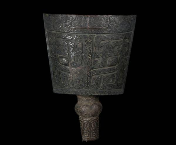 商 · 饕餮纹铙(天津博物馆)
