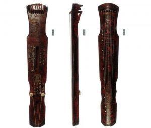 """中国国家博物馆:唐代九霄环佩琴现身""""中国古代乐器展""""传世仅4张"""