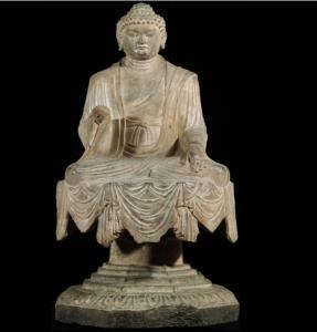 唐代 · 释迦坐像(山西博物院)