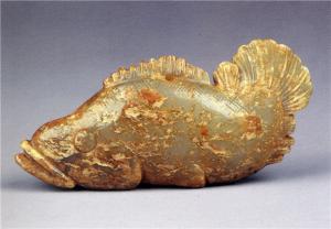 南宋 · 青玉鳜鱼挂件(杭州博物馆)