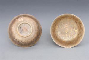清代 · 描金云龙纹青玉碗(辽宁省博物馆)