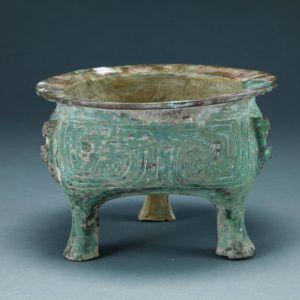 西周 · 窃曲纹铜鬲(深圳博物馆)