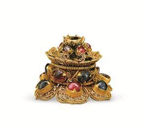 明代 · 金雷丝镶宝石帽顶(湖北省博物馆)