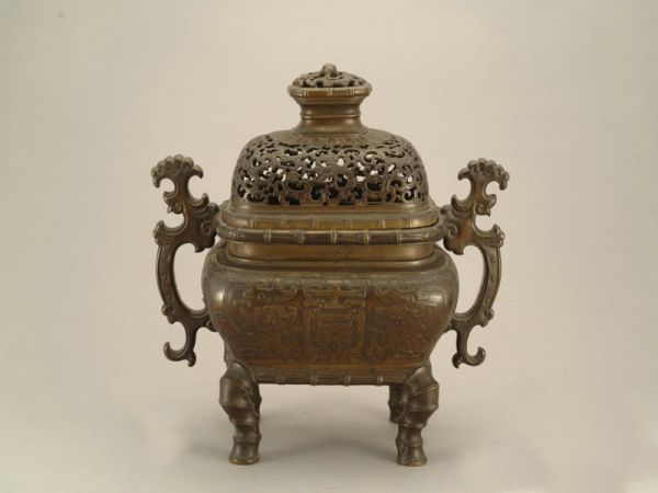 明代 · 透雕云龙纹铜炉(广东省博物馆)