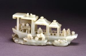 清代 · 白玉人物船(武汉博物馆)