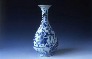 元代 · 青花人物故事玉壶春瓶(湖南省博物馆)