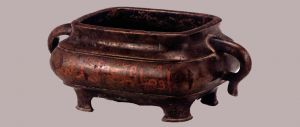 明代 · 阿文铜方炉(宁夏博物馆)