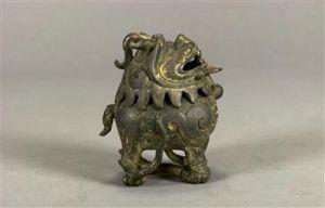 清代 · 鎏金兽形香炉(湖南省博物馆)