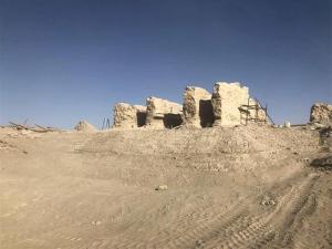 新疆抢险加固楼兰古城三间房和佛塔遗址