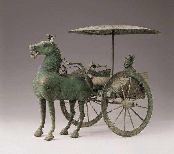 汉代 · 铜骑吏 (甘肃省博物馆)