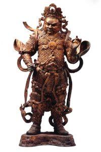 西夏 · 鎏金天王铜造像(宁夏博物馆)